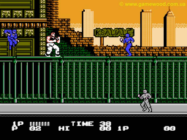 Скриншот игры Dragon Ninja (Bad Dudes, Bad Dudes Vs Dragon Ninja) | Dendy (NES) | Где-то за городом