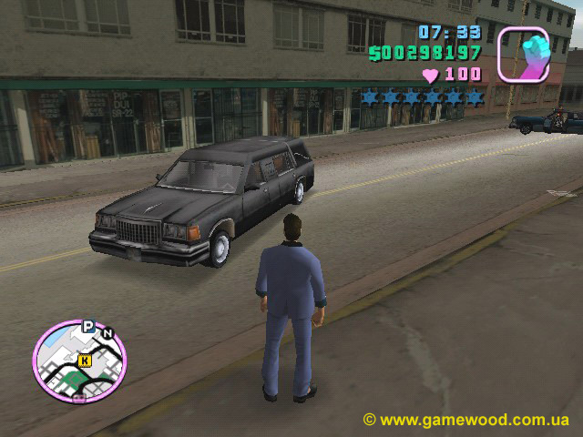Скриншот игры Grand Theft Auto: Vice City | PC | Автомобиль Romero's Hearse