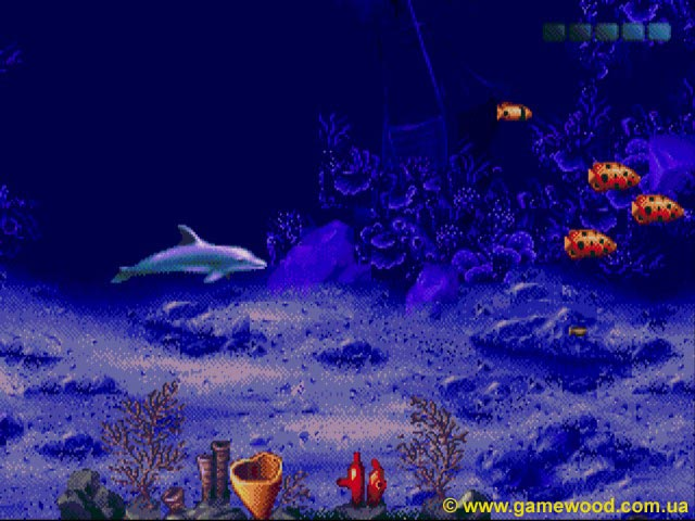 Скриншот игры Ecco: The Tides of Time (Ecco the Dolphin 2, Ecco 2: The Tides of Time) | Sega Mega Drive 2 (Genesis) | Морское дно