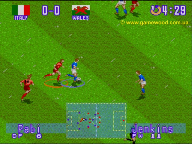 Скриншот игры International Superstar Soccer: Deluxe (Jikkyou World Soccer 2: Fighting Eleven) | Sega Mega Drive 2 (Genesis) | Нулевой счет
